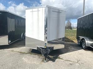 Enclosed Trailer Enclosed Trailer. white gatormade tandem enclosed trailer