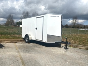 Enclosed Trailer 12ft  Enclosed Trailer 12ft. 12ft white single axle enclosed trailer