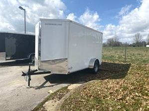 Enclosed Trailer 12ft Enclosed Trailer 12ft. 12ft white single axle enclosed trailer