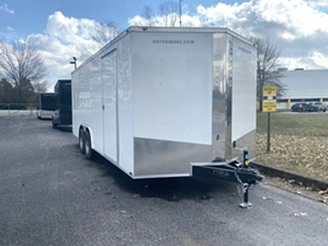 Enclosed Trailer By Gator Enclosed Trailer By Gator. 8.5x20ft white enclosed trailer tandem axle