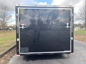 Enclosed Trailer Spread Axle Enclosed Trailer Spread Axle. Tandem spread axle black enclosed trailer by gator