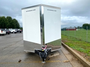 Enclosed Trailer Enclosed Trailer. Dual tandem v nose rzr trailer