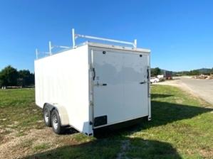 Enclosed Trailer 16 foot  Enclosed Trailer 16 foot . 7x16 tandem white enclosed trailer