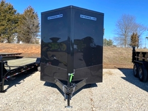 Enclosed Trailer Blackout Enclosed Trailer Blackout. Blackout enclosed trailer with mag wheels
