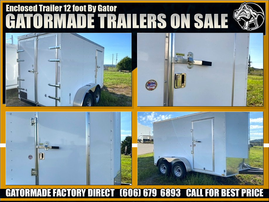 Image Enclosed Trailer Tandem Axle